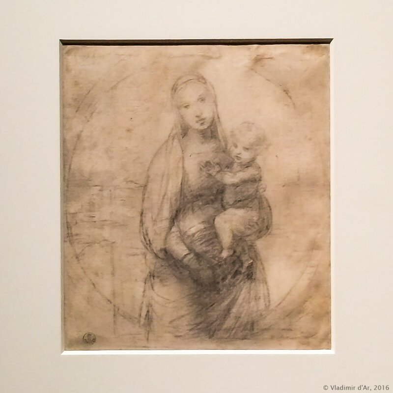 Рафаэль Санти. Мадонна с Младенцем (рисунок к Мадонне Грандука).