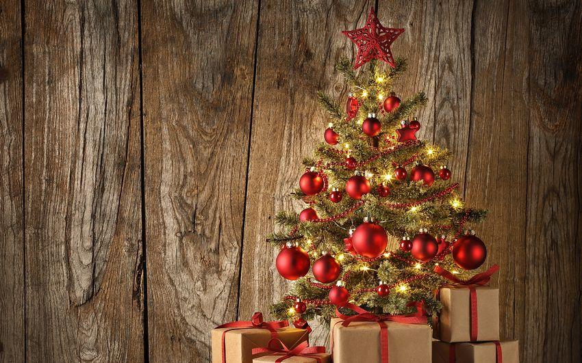 Новогодняя ёлка, фоны, игрушки, украшения
