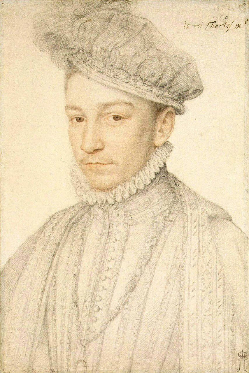 1087Портрет короля Карла IX_1560-е_33.5 х 22.5_бумага, итальянский карандаш, сангина_Санкт-Петербург, Эрмитаж.jpg
