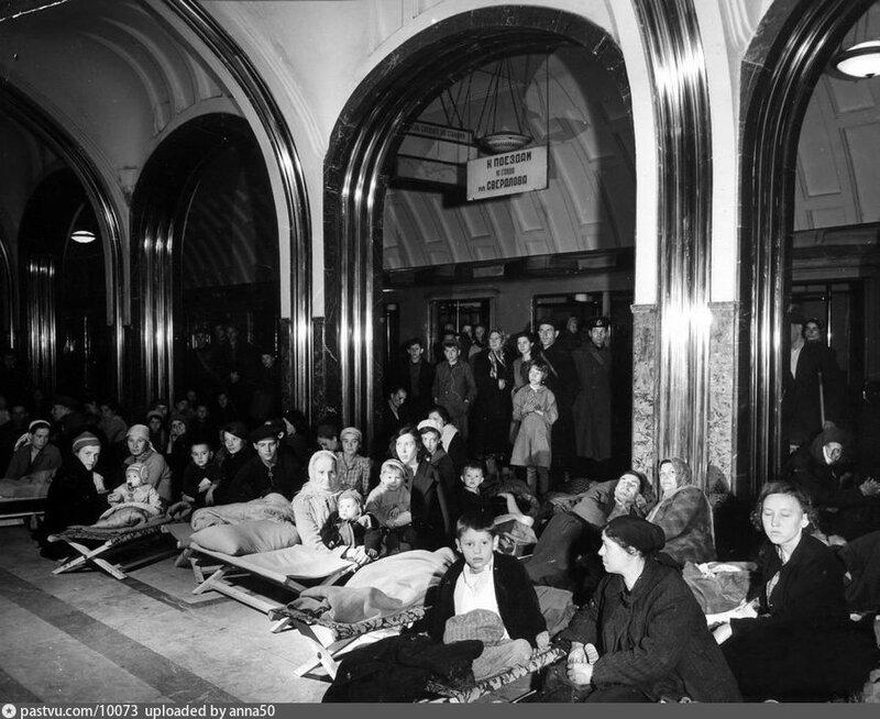 Метро Маяковская. 1941..jpg