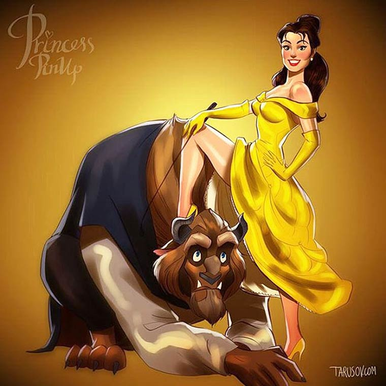Disney Pin-up - When the Disney princesses meet the world of pin-ups
