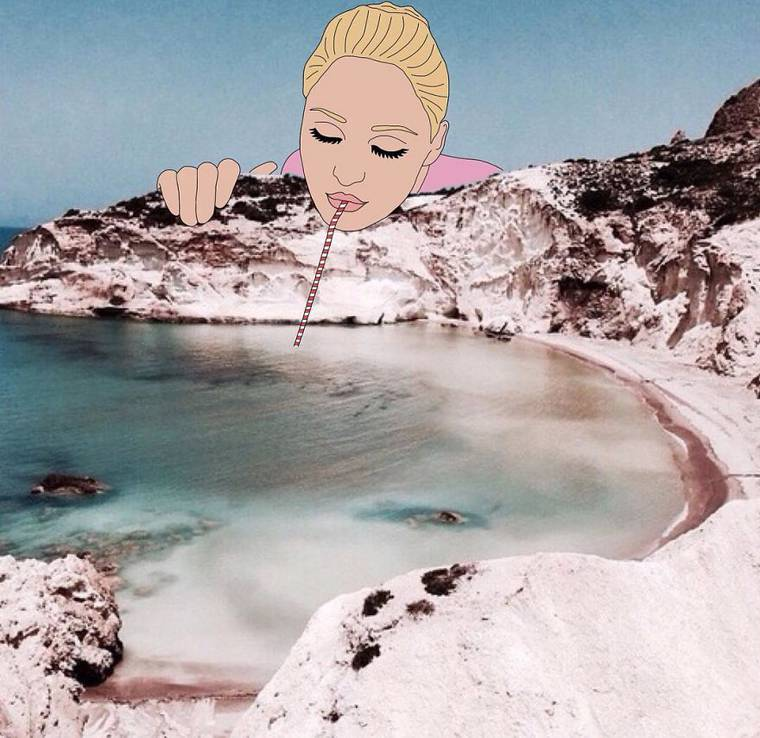 When Julia Borzucka draws on photos found on the Internet