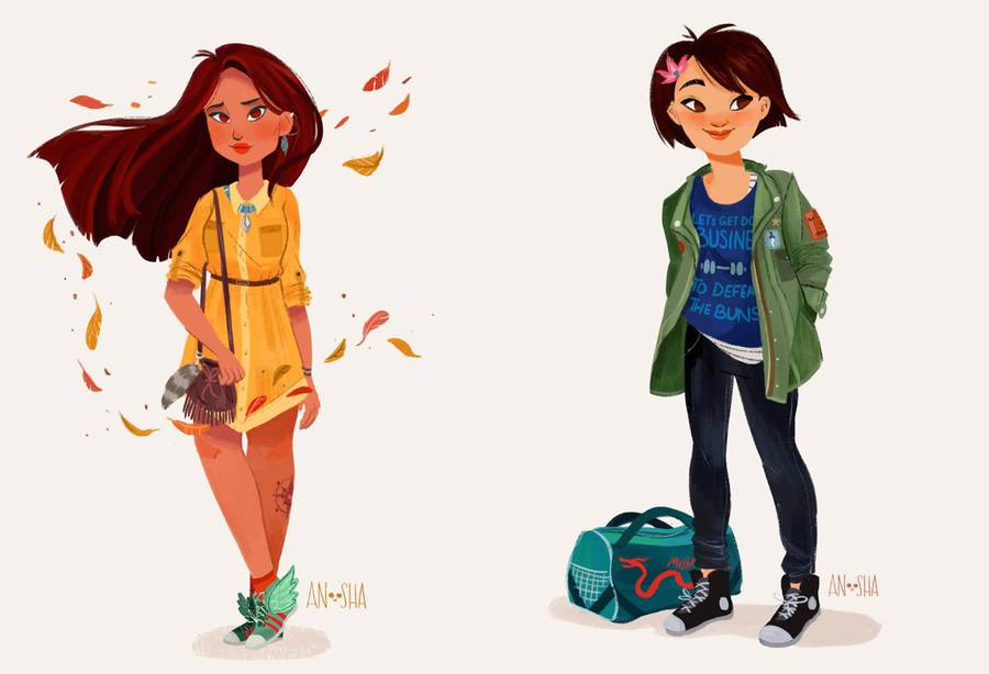 Illustrated Disney Princesses Reimagined As Modern Girls Living In The 21st Century (11 pics)