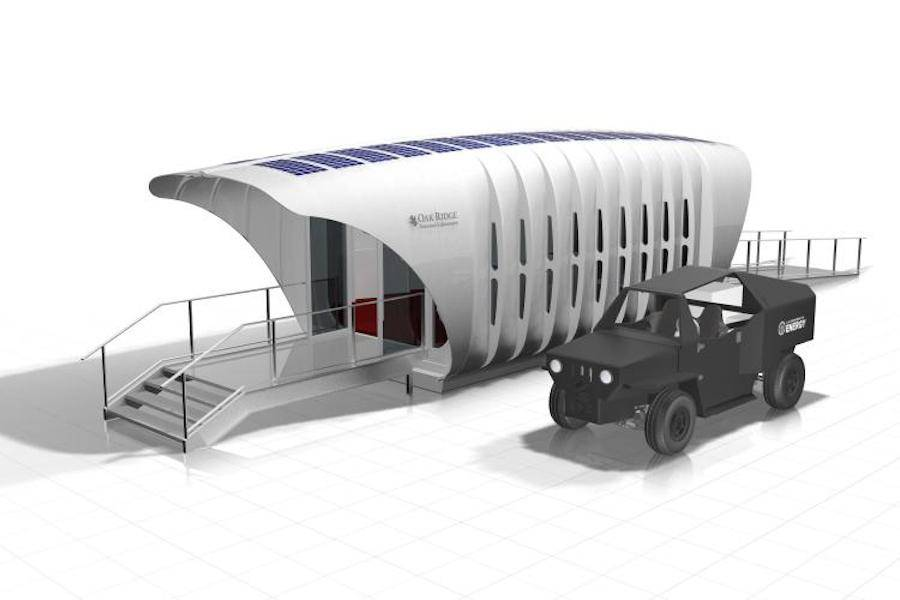 3D Printed Building Powered by a 3D Printing Car