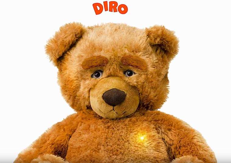 DIRO the Bear - This connected robot wants to become a new friend for your kids