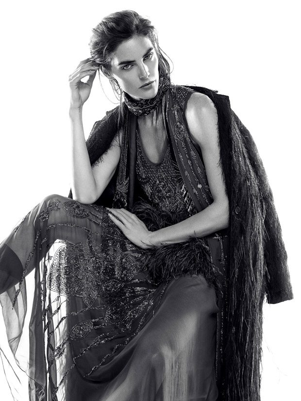 Supermodel Hilary Rhoda Dazzles for Iris Covet Book Cover Story