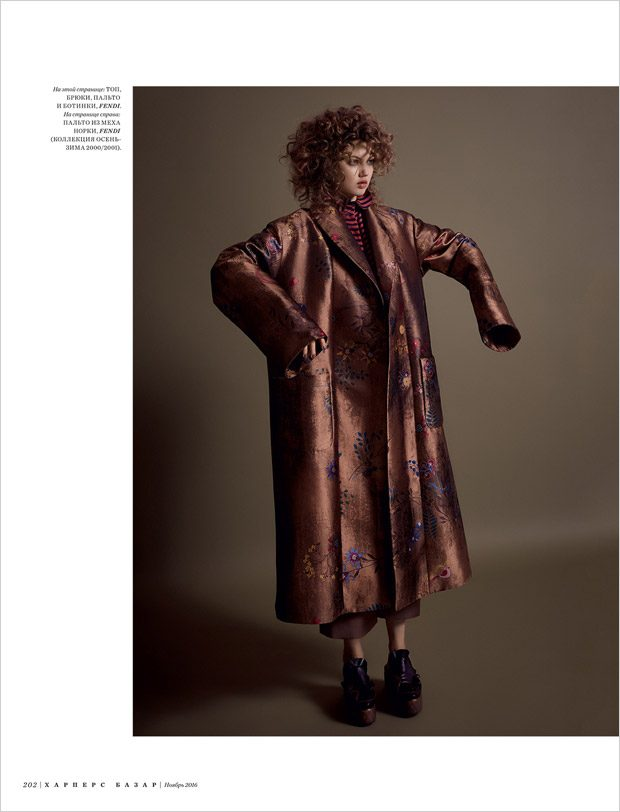 Lindsey Wixson Stuns in Fendi for Bazaar Russia November 2016 Issue