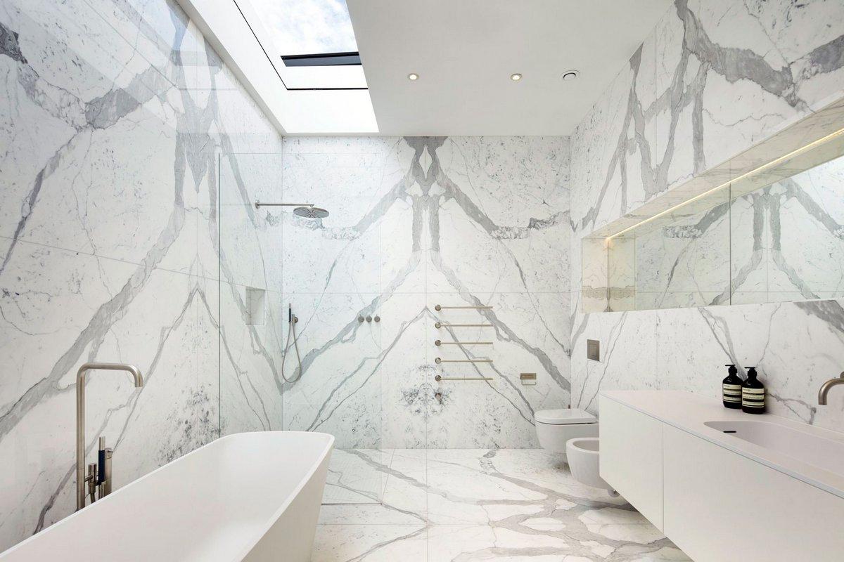 современное оформление ванной комнаты
