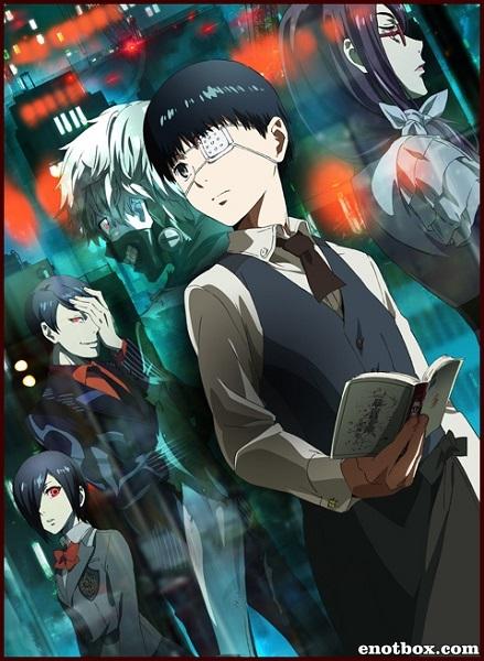 Токийский гуль (ТВ-1) / Tokyo Ghoul [TV] [12 из 12] [без хардсаба] [RUS(ext), JAP+SUB] (2014 BDRip 720p)