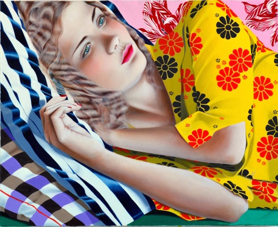Multi-Patterned & Colorful Portraits of Women (12 pics)