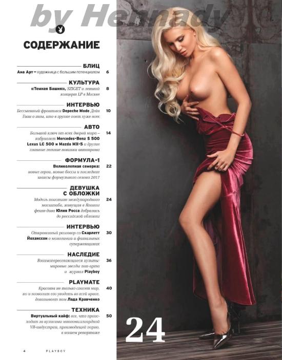 Журнал Playboy Россия №4 (лето 2017)