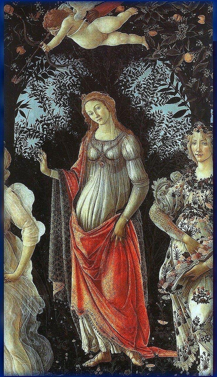 Венера под аркой. Primavera. Фрагмент картины Боттичелли. Весна. 1482 год.jpg