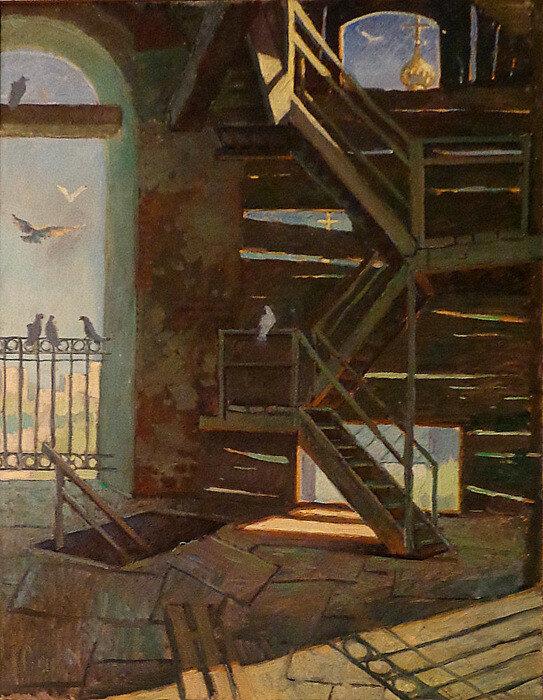 Стекольщикова К.А. - На колокольне, 2010.jpg