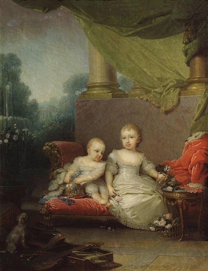 Поррет великого князя Николая Павловича и великой княжны Анны Павловны, детей Павла I. 1797 Гатчина.jpg