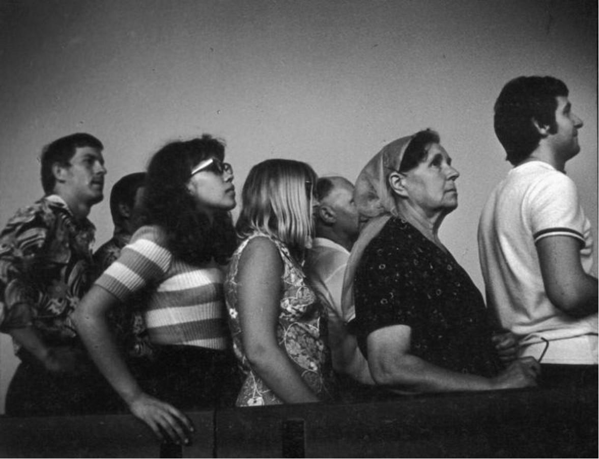 1974. Очередь к «Джоконде» Леонардо да Винчи в Музее им. А. С. Пушкина