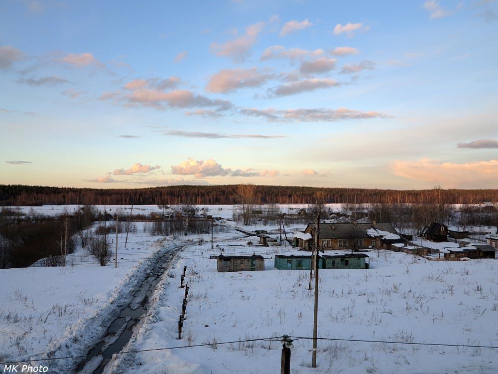 Вид с виадука в Сосногорске