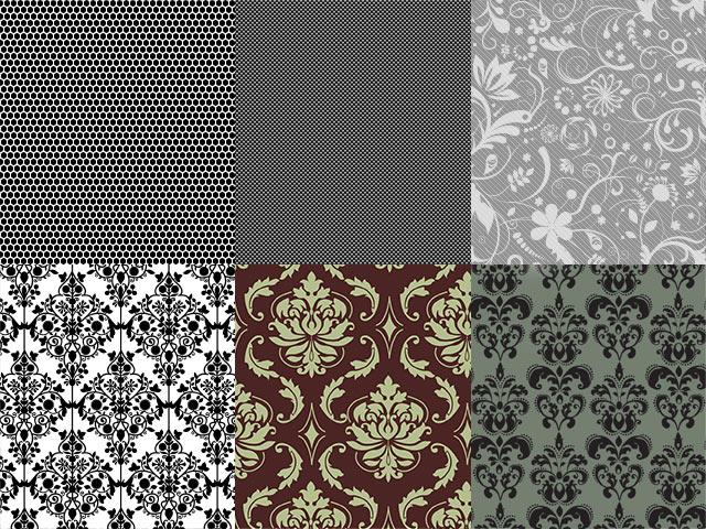 Бесшовные узоры (pattern) в восточном стиле