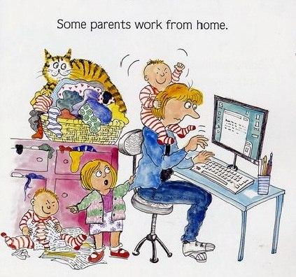 14 мая - День фрилансера! Родители работают дома!