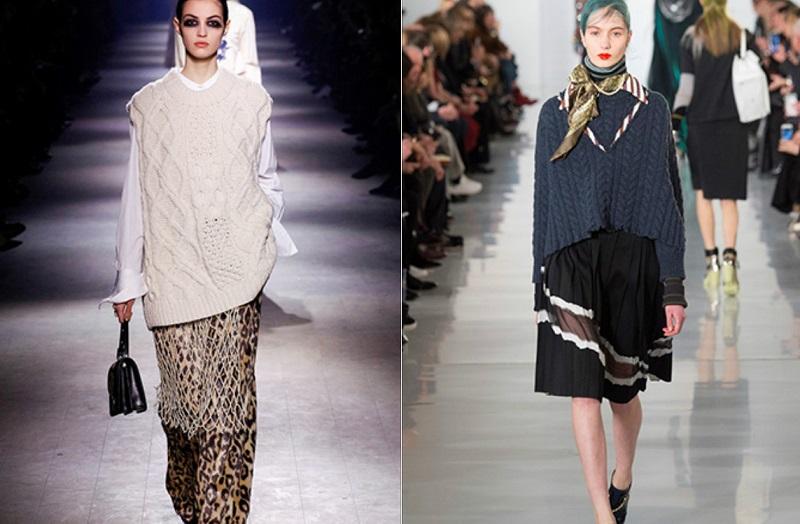 Дизайнерские дома Valentino и Dior предлагают носить водолазки с нарядными платьями. Также этот