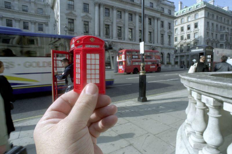 16. Красная телефонная будка, Лондон.