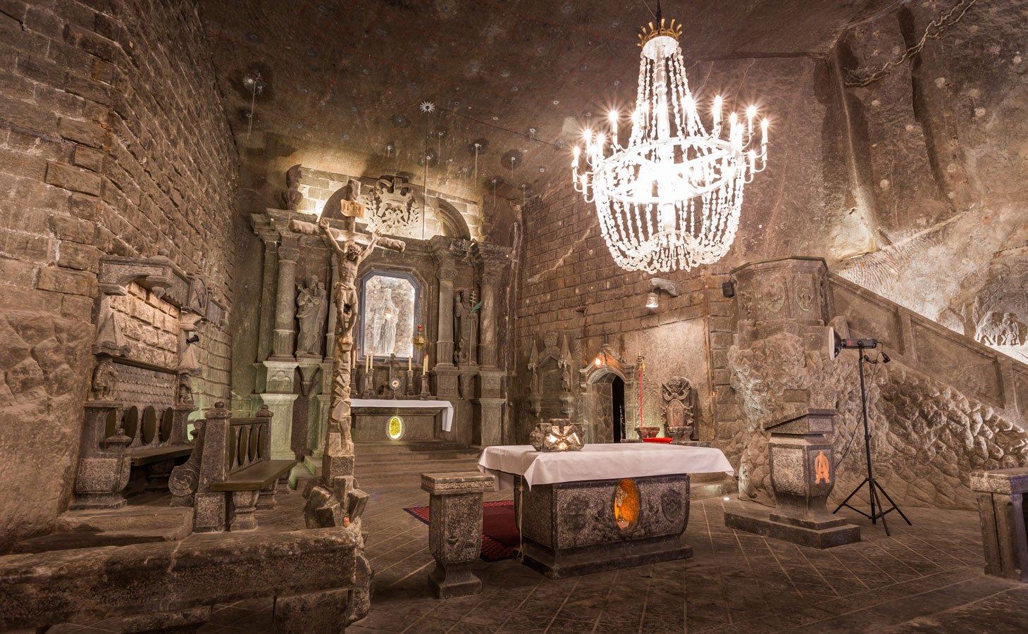 Соляная шахта «Величка», Польша От самой церемонии до торжественного приема — все можно провести в п