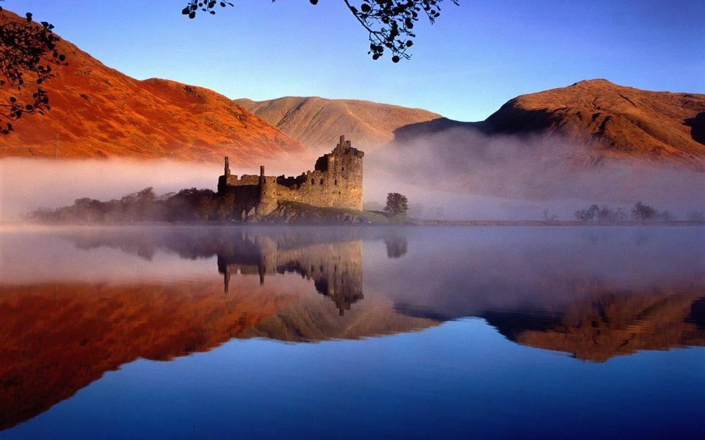 19. Замок Килхурн, Шотландия Очень красивые и даже немного жуткие руины замка Килхурн расположились