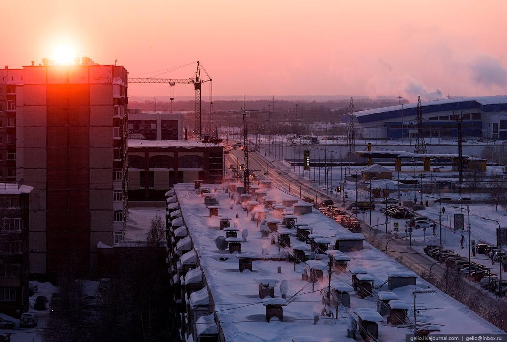 Сургут с высоты: морозная столица нефти и газа