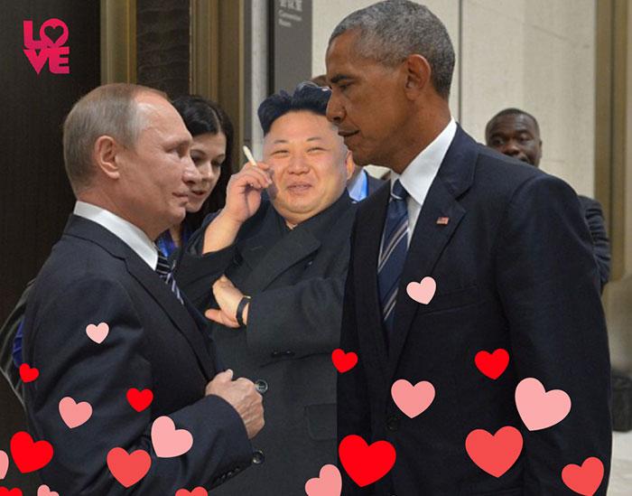 Ну какая же битва фотожаб без Ким Чен Ына!