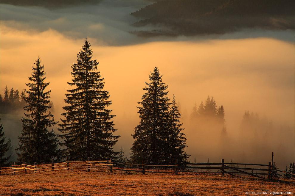 Восход играет красками на хребте. Пятна снега, лежавшие всю ночь, моментально тают под теплыми