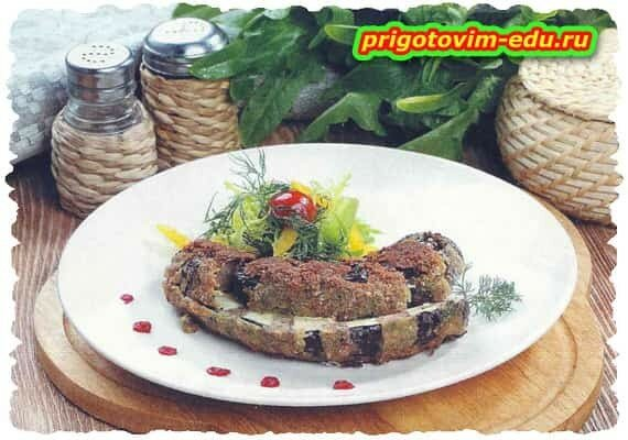 Баклажаны с мясом в панировке