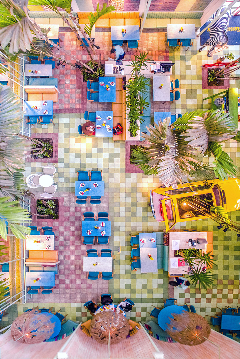 Tropical & Colorful Madero Cafe by Taller KEN