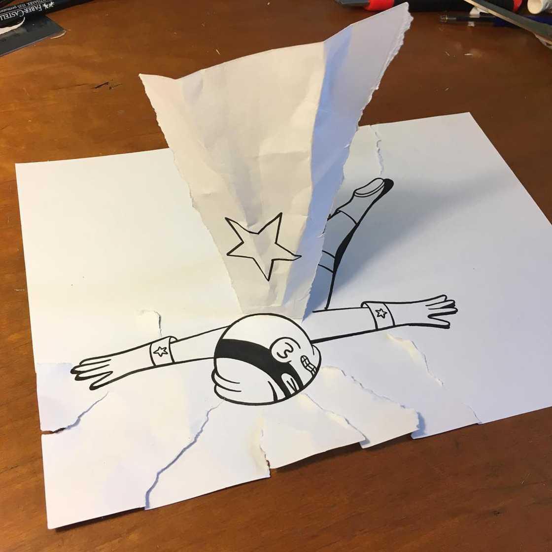 Des situations amusantes avec de simples feuilles de papier