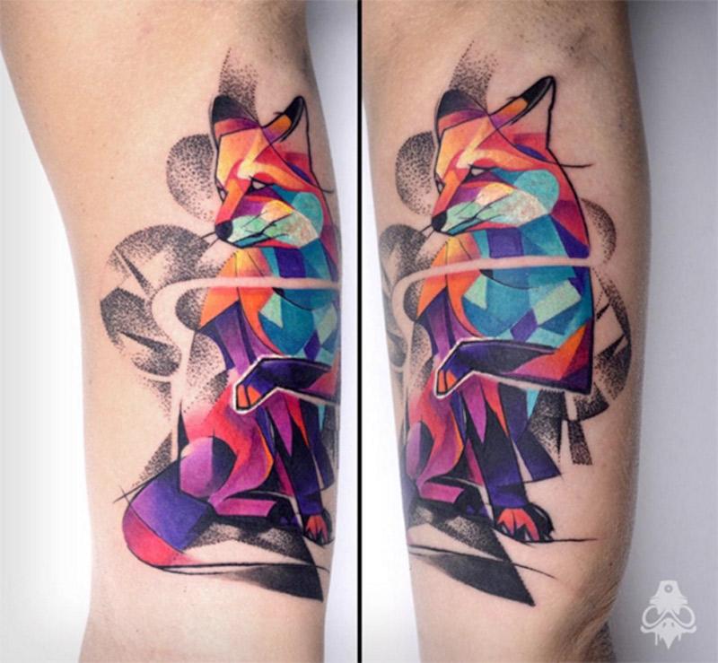 As tatuagens vibrantes inspiradas no grafite de Carlos Breakone
