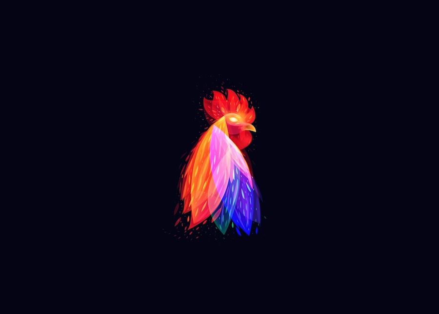 Digital Light Illustrations of Animals
