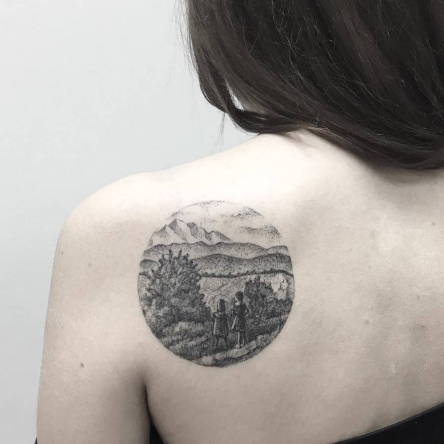 The Nicely Dark and Arty Tattoos of Julia Shpadyreva