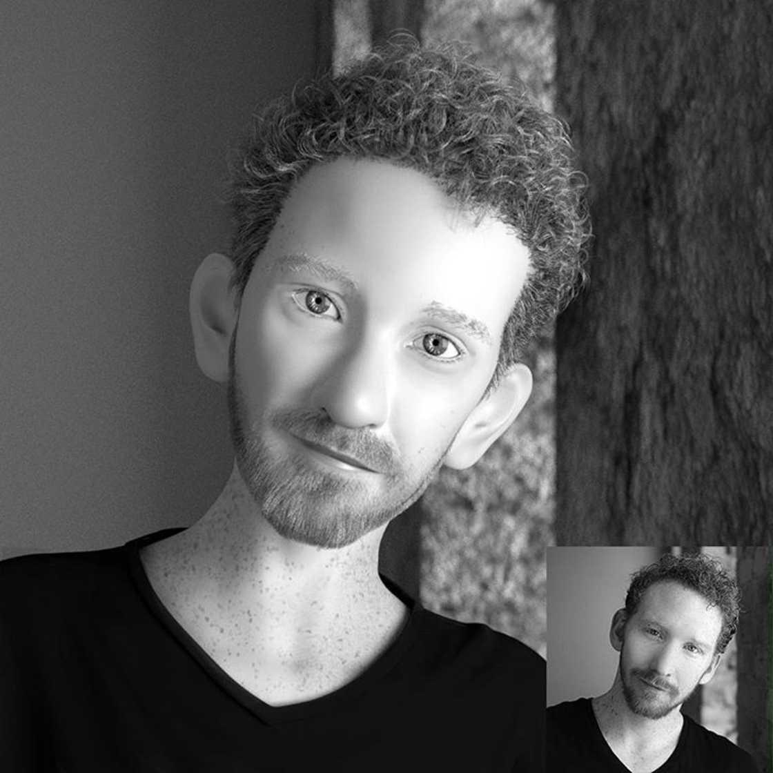Il transforme les photos de profil en superbes portraits 3D