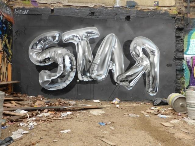 Balloons Lettering Street Art (6 pics)