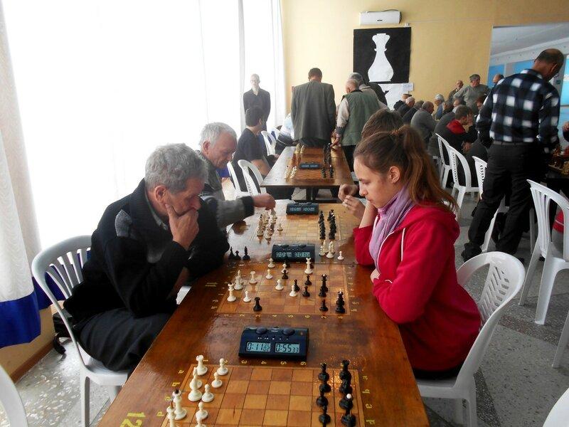 На турнире ... Шахматный турнир. Выселки. Декабрь 2016