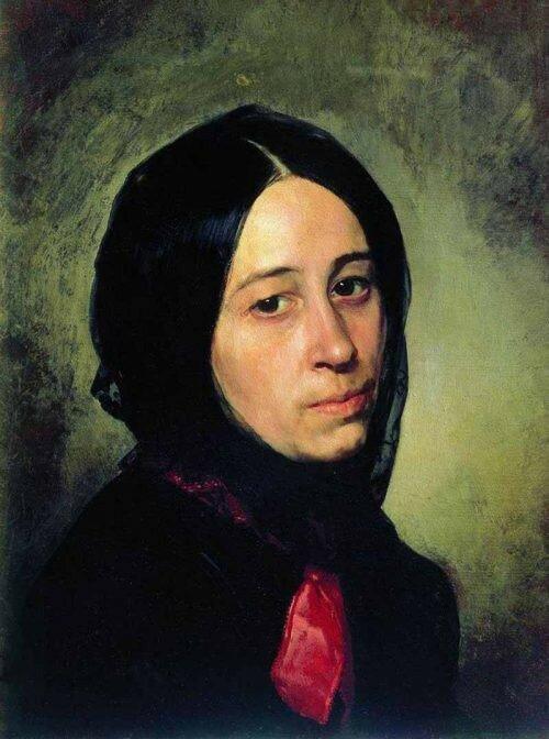 Портрет М.И. Третьяковой. 1860 ГТГ