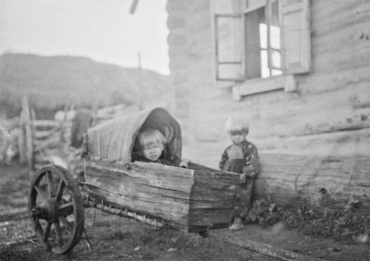 Ребенок в тележке