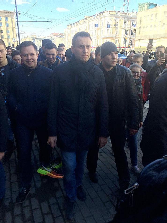 26 марта, 2017, Алексей Навальный на Тверской. антикоррупционный митинг,  Новый пост 9.
