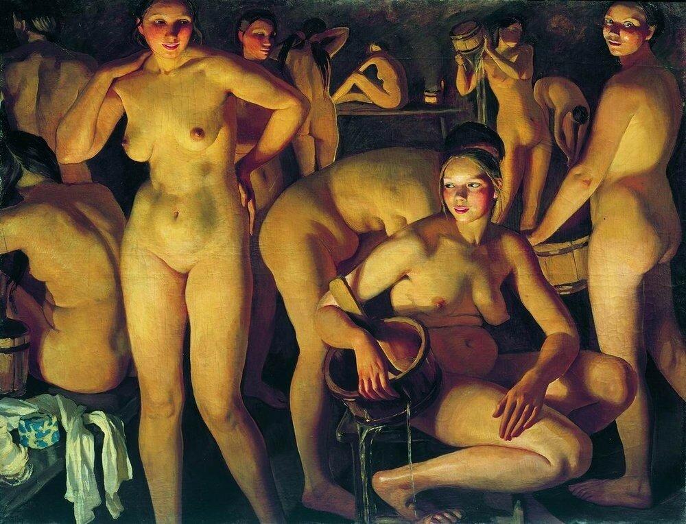 Баня. 1913. 135 x 174 см. холст, масло. Санкт-Петербург, Государственный Русский музей.jpg
