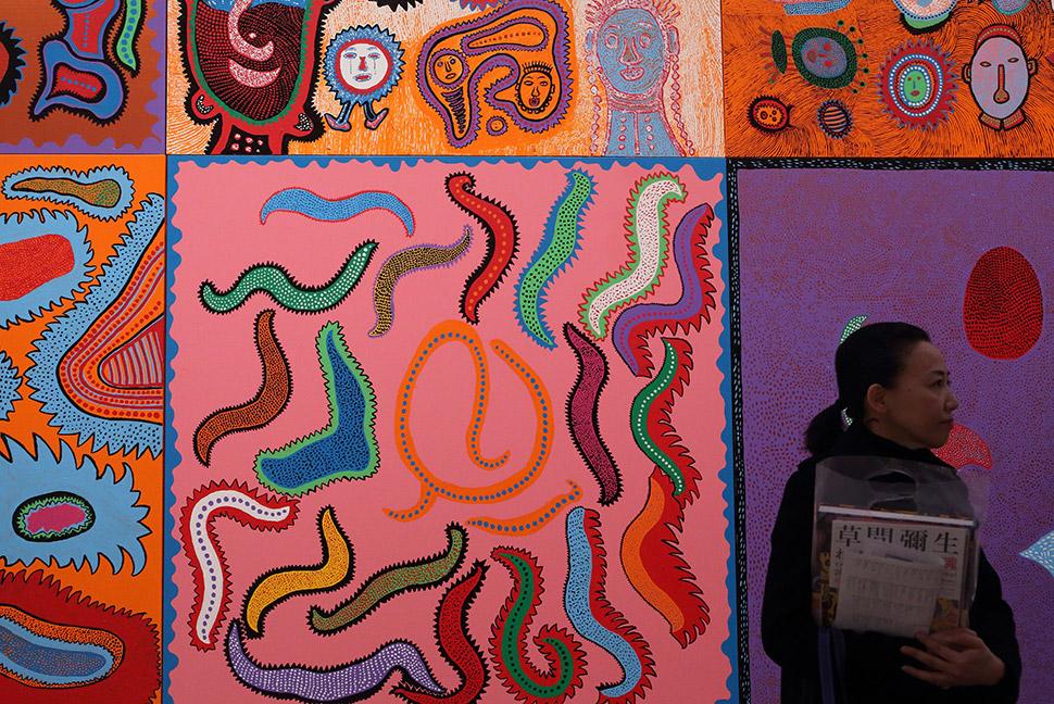 На выставке My Eternal Soul («Моя вечная душа») в Национальном центре искусства в Токио, февраль 201
