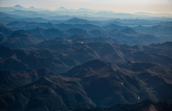 2. Камчатка с высоты в 7 000 метров.