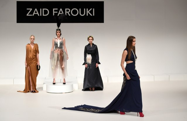 Models walk the runway during the Zaid Farouki Presentation at Fashion Forward Spring/Summer 2017 he