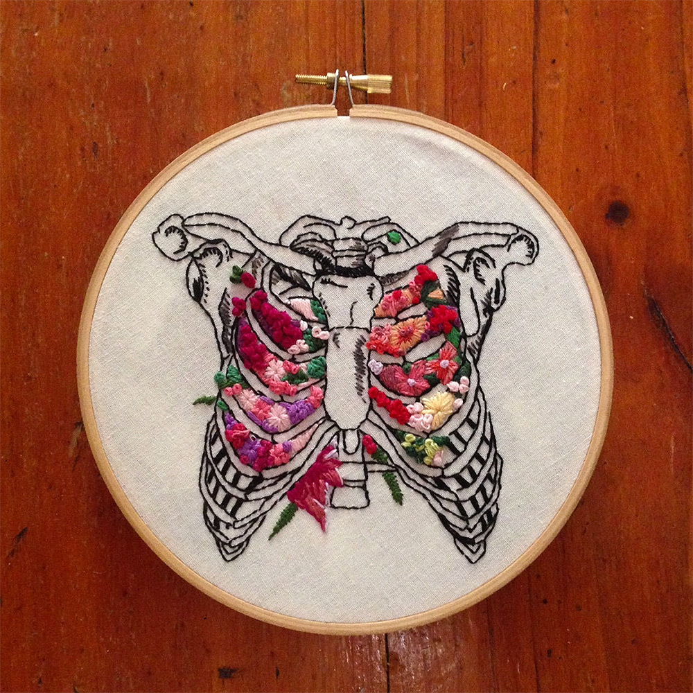 Floral Anatomy Embroideries by InherentlyRandom [updated] (3 pics)