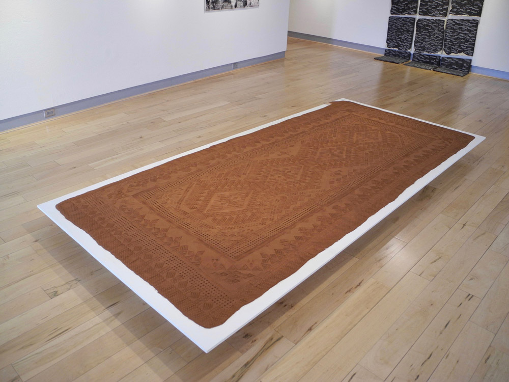 Ephemeral Rugs Formed From Oklahoma's Red Earth by Rena Detrixhe
