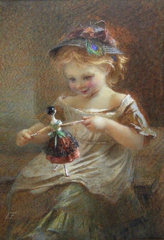 EMILY FARMER  'Child and doll'