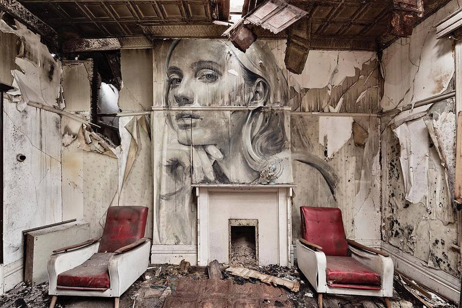 """Empty"" Women Portraits in Abandoned Places by Rone (6 pics)"