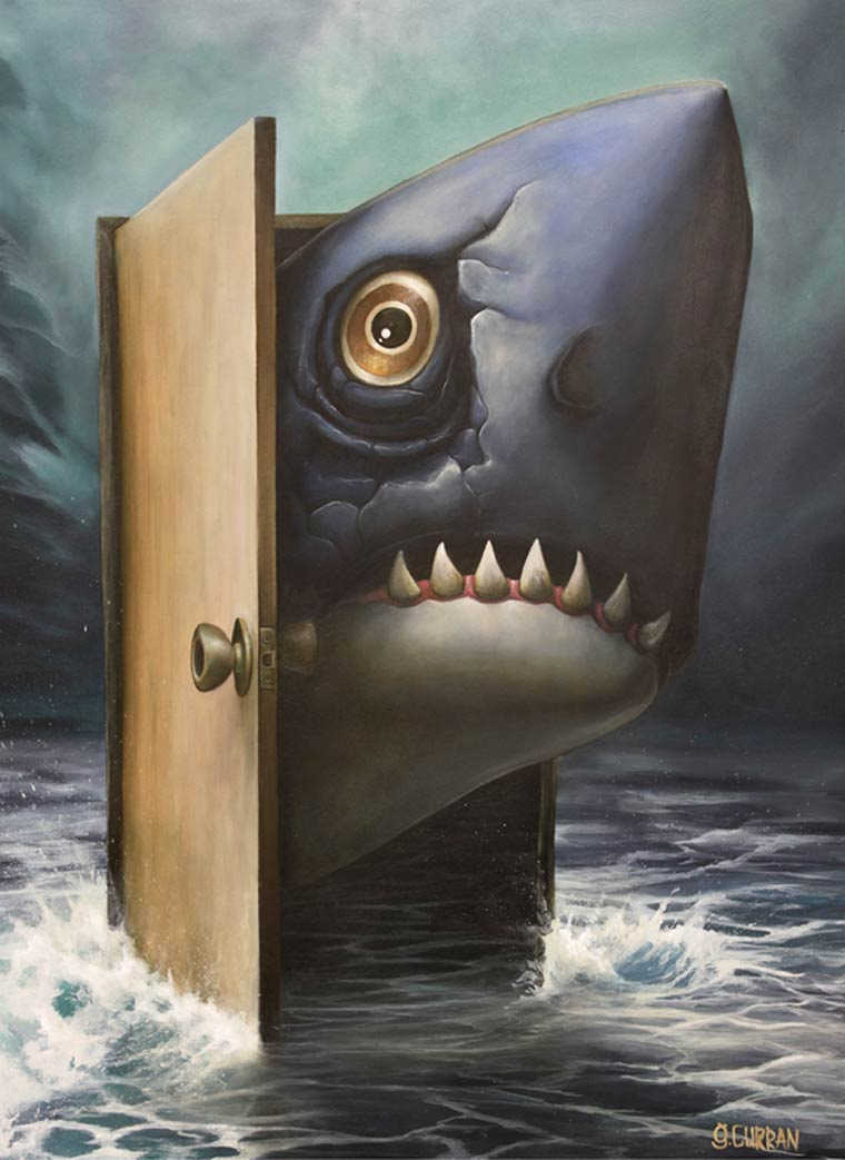 Les peintures surrealistes de Graham Curran
